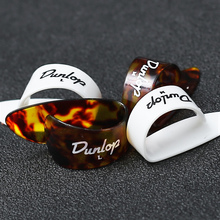 Dunlop 1 piece Thumb Finger Guitar Pick Celluloid Mediator Guitar Picks Thumbpick for Acoustic Electric Guitar 4pcs set celluloid guitar fingertip 1 thumb and 3 finger nail guitar picks plectrums sheath for acoustic electric bass guitar