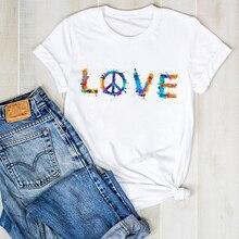 T Shirt Women Lady Summer LOVE Woman Clothes Tops Kawaii T-s