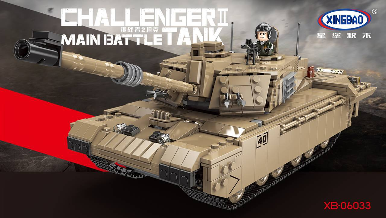 PRE-SALE XINGBAO Xb-06033 Challenger 2 Tank Model Small Particles Military Building Blocks Assembled Educational Toy