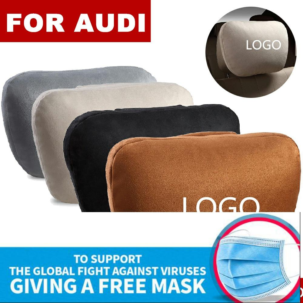 Super Soft Suede Cover Car Headrest Neck Support Pillow Seat Cushion For AUDI BMW Audi Ford Toyota Kia Nissan Lada MINI Volvo