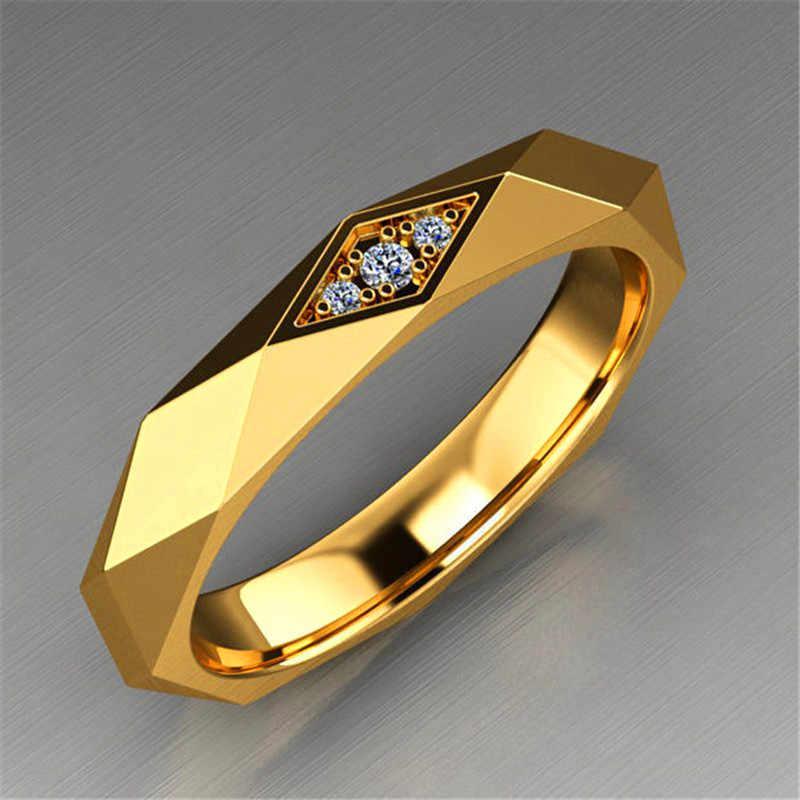 Classi ชายหญิงแหวนสแตนเลส Silver GOLD แหวนหมั้น VINTAGE ผู้ชายผู้หญิงงานแต่งงานแหวนคู่