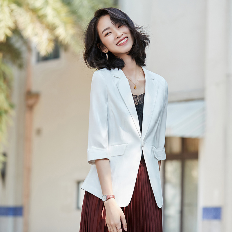 Women's office suit 2020 new spring casual solid color ladies blazer Slim jacket feminine small suit High quality fabric