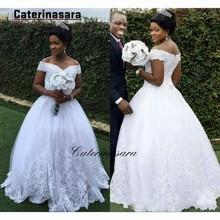 Lace Off-the-shoulder Wedding Dress Lace-up Floor Length Bridal Gown off the shoulder lace up shirred bikini set