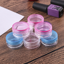 10pcs 5g  Portable Plastic Cosmetic Empty Jars Clear Bottles Eyeshadow Makeup Cream Lip Balm Container Pots