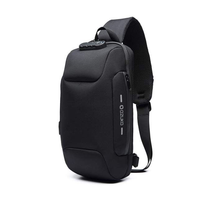Ozuko 2019 新しい多機能クロスボディバッグ男性のアンチ盗難防止ショルダーメッセンジャーバッグ男性防水ショート旅行胸バッグパック