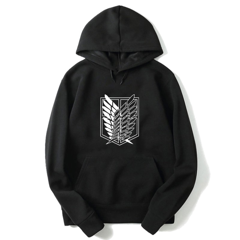 Anime Hoodie Woman/Men Hooded Hoodies Attack On Titan Prints Kpop Sweatshirt Hip Hop Hoodies Pullovers Korean Oversized Hodies