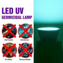 E27 UV Desinfection Lamp E14 LED Sterilizer Lamp MR16 LED UVC Germicidal Bulb GU10 Ultraviolet Light 48 60 80leds Amuchina B22