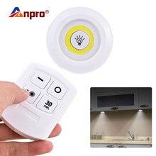 Затемняемый Светодиодный светильник с пультом дистанционного управления, работающий от батареи, светодиодный светильник для шкафа, освещение ночного света для кухни