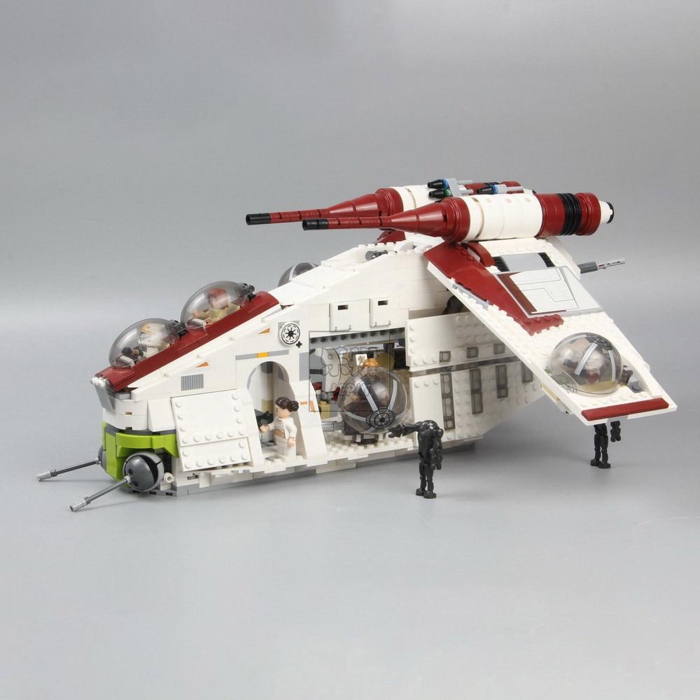 In Stock 05041 05042 War UCS The Republic Gunship 05035 Death Building Block Set Bricks Toys Lepining Star Wars 75021 10188
