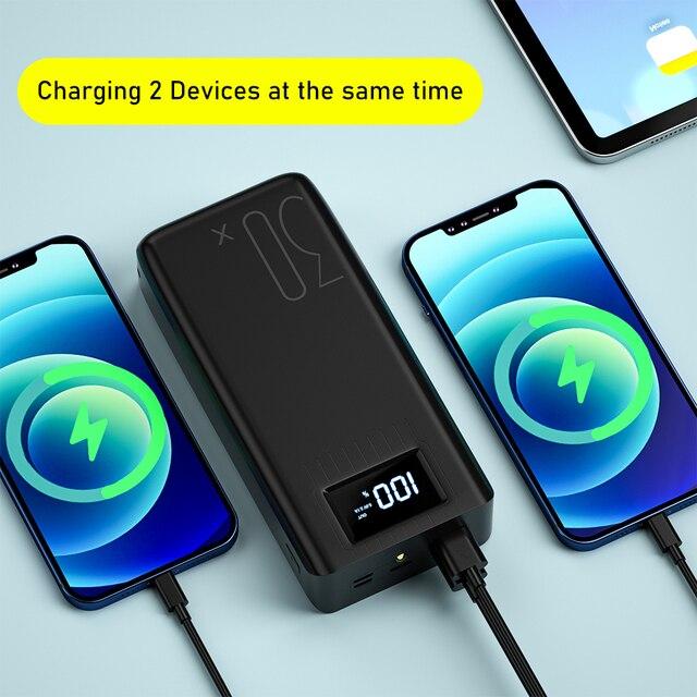 Портативное зарядное устройство Asometech, 30000 мА*ч, USB Type-C, Micro-USB, 3 цвета 4
