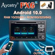 Dsp ips 8 core 4g android 10.0, 2 din, dvd player, gps, áudio para audi a4/s4 rs4/b6/b7/seat/exeo rádio multimídia automotivo, estéreo dvr