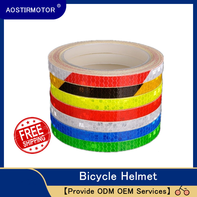 AOSTIRMOTOR Reflective Tape MTB Bike Bicycle Cycling MTB Reflective Stickers 800cm Adhesive Tape Bicycle Motor Accessories