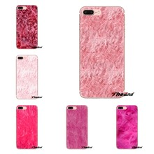 Voor Samsung Galaxy S2 S3 S4 S5 MINI S6 S7 rand S8 S9 Plus Note 2 3 4 5 8 coque Fundas Pluizige bont roze Print Zoete Soft Cover Tas(China)
