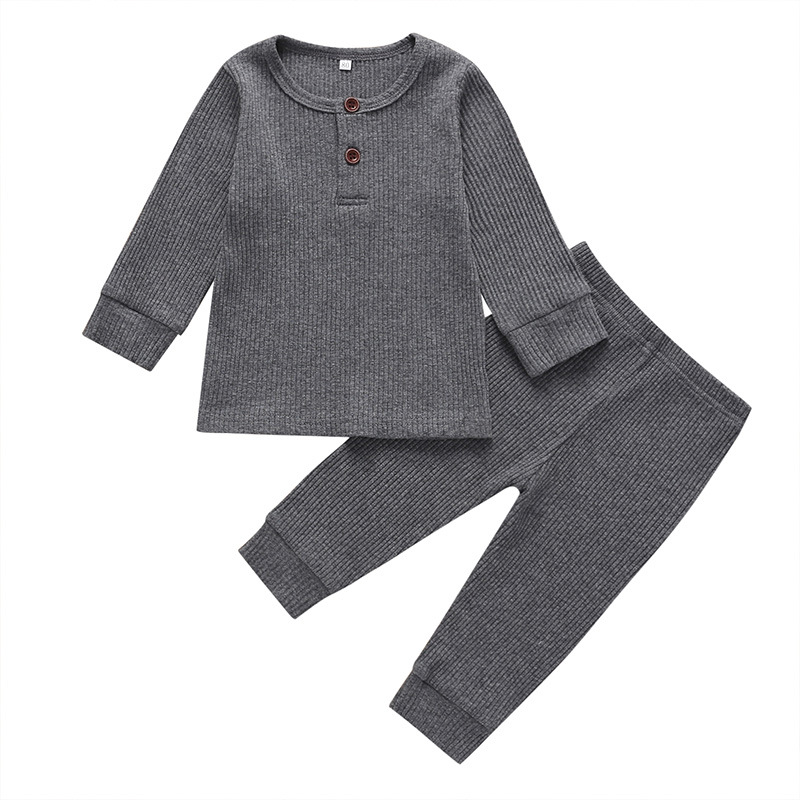 Baby Clothing Set Cotton Long Sleeved Tshirt And Pant 2PCS Set Summer Spring Casual Baby Boy Clothes Set Infant Girl Clothes