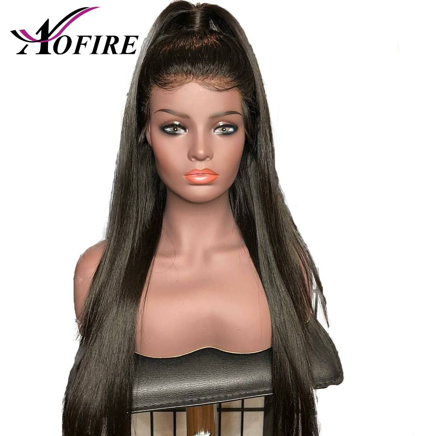 180% High Density Silk Base Wigs Pre Plucked With Baby Hair Brazilian Remy Hair Silk Top Straight 13*4Lace Front Human Hair Wigs