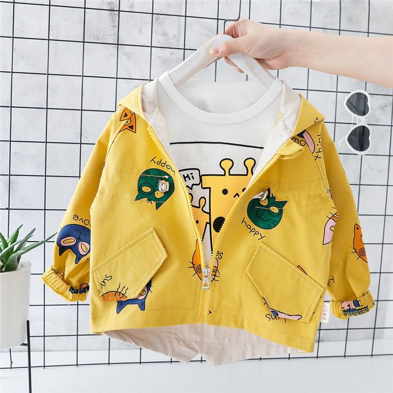 Baby Coat Cardigan Jackets Newborn Outerwear Toddler Autumn Children Cotton Hooded Zipper