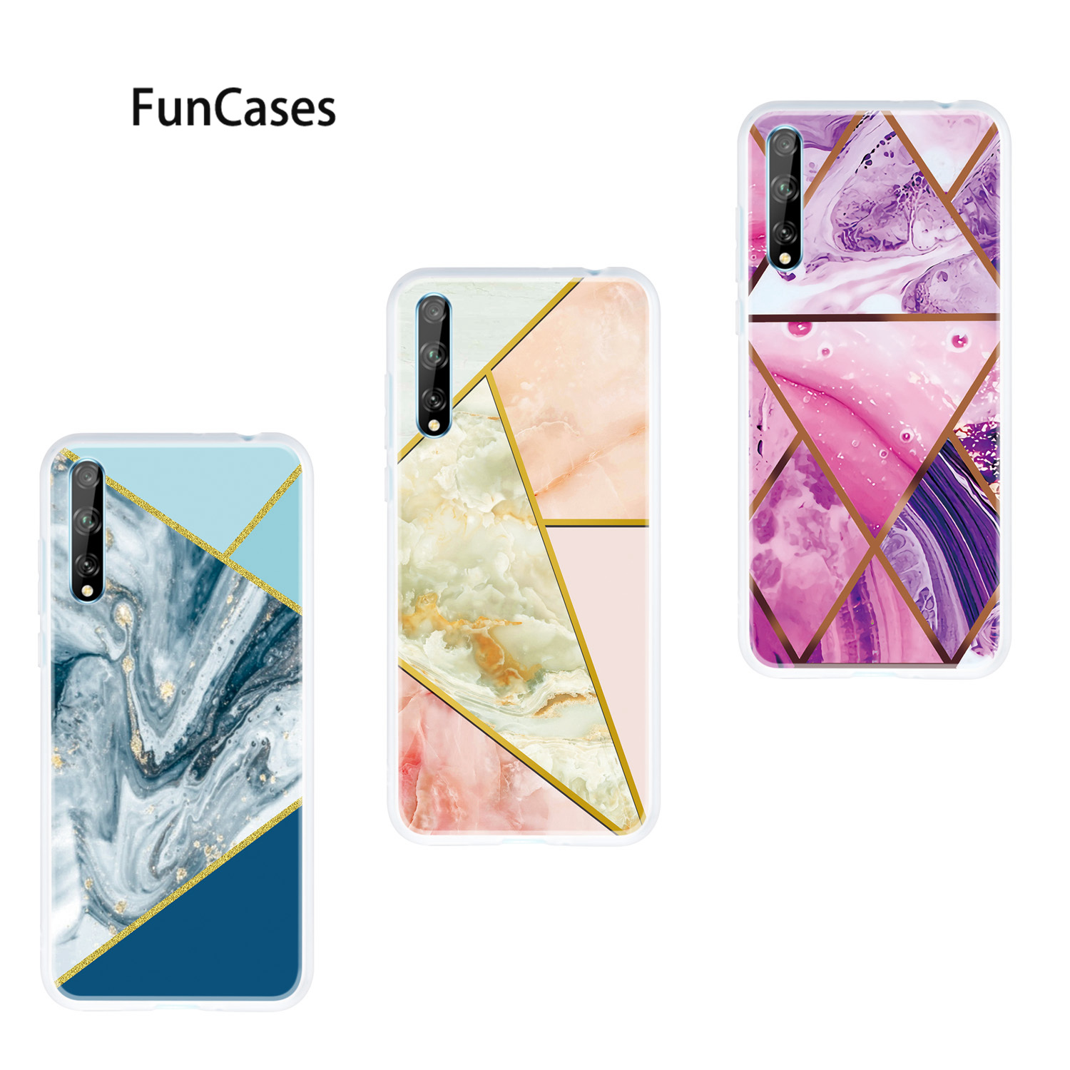 Covers Silicon Case For Huawei Enjoy 10 Plus Contrast Color Etui Soft TPU Protector Huawei P Smart Plus 2019 Enjoy 10S Z 9S(China)
