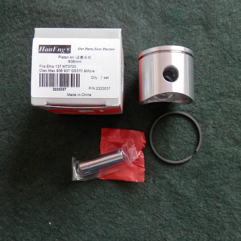 38MM PISTON KIT FOR OLEO-MAC 936 937 GS370 EFCO 137 MT3700 CHAINSAW  CYLINDER ASSEMBLY  KOLBEN W/ RING CIRCLIP  PIN CLIP ASSY