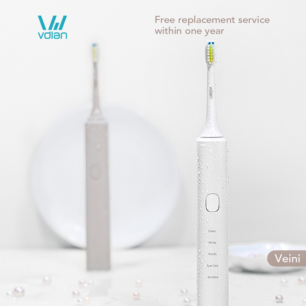 VDIAN Veini V2 Electric Toothbrush Ultrasonic Soft-bristled Sonic Teeth Brush Electric Toothbrush Rechargeable USB For Adult