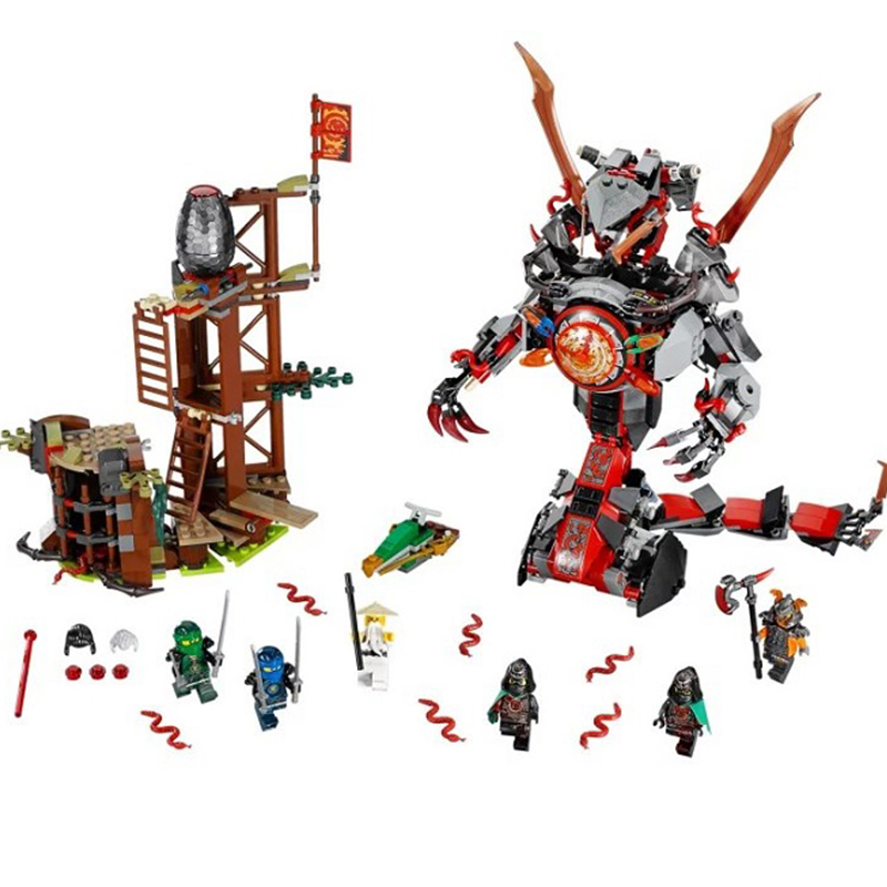 734 PCS Bela 10583 <font><b>legoinglys</b></font> Dawn of Iron Doom Ninja Mini Figures Set Ninjagoes <font><b>70626</b></font> Building Blocks Toys for kids image