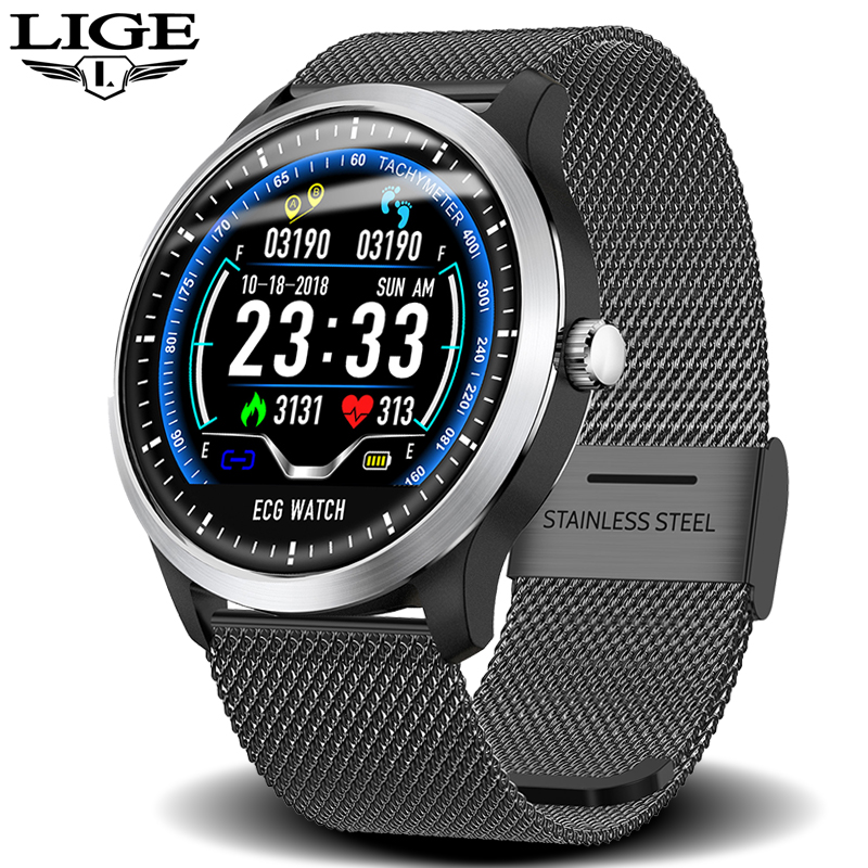 LIGE ECG PPG smart watch heart rate monitor blood pressure smartwatch ecg display Sleep Fitness Tracker Smartwatch Android IOS image
