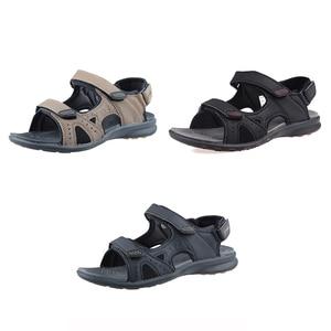 Image 4 - Grition男性サンダル屋外スリッパ男性の靴フラット軽量カジュアルサンダル通気性2020コンフォートシューズ46 #