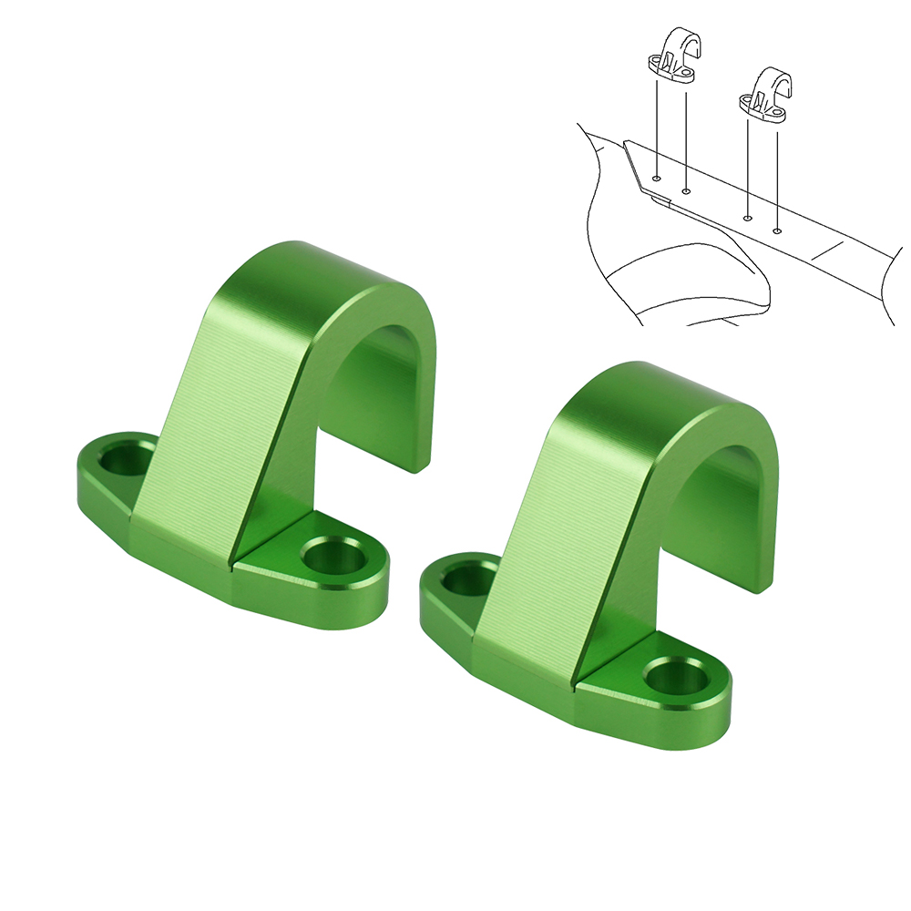 Motorcycle Rear Brake Hose Line Clamp Guide Holder For Kawasaki KLX450R KLX 450R <font><b>KX</b></font> <font><b>125</b></font> 250 250F 450F Aluminum <font><b>Parts</b></font> 13070-0048 image