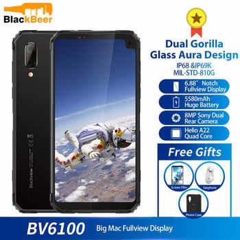"""Blackview BV6100 Dual Gorilla 6.88\"""" Screen Smartphone 3GB+16GB Android 9.0 IP68 Waterproof Cellphone 5580mAh NFC Mobile Phone - DISCOUNT ITEM  32 OFF Cellphones & Telecommunications"""