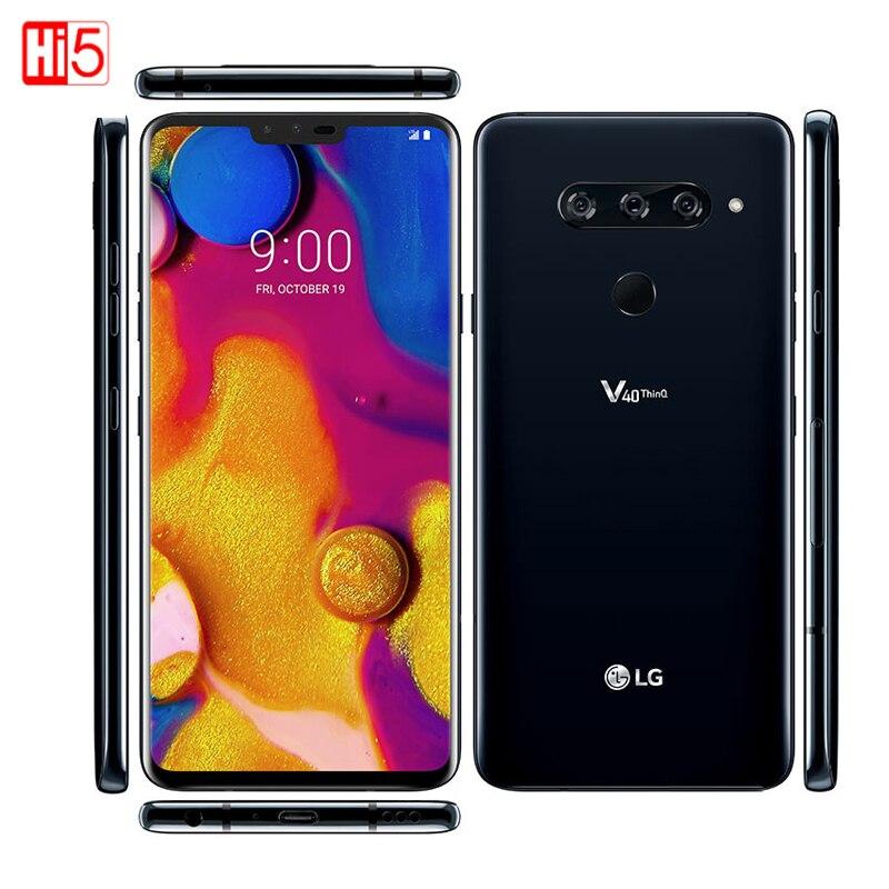 "LG V40 ThinQ Android SmartPhone 6GB RAM Octa Core dual front 3 rear Cameras Fingerprint 6.4"" Cellphone Unlocked|Cellphones| - AliExpress"