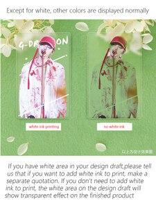Image 3 - Angepasst Gedruckt Pvc Transparent Visitenkarten Name Karte Matt 100 Ppieces /lot