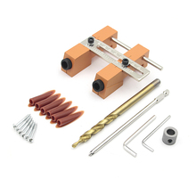 Adjustable Pocket Hole Drill Guide Kit  Drilling Puncher Locator Jig DIY Carpentry Woodworking Tools