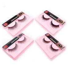 лучшая цена YSDO 1 pair eyelashes natural long false eyelashes makeup lashes 3D mink eyelashes wispy lashes dramatic fluffy fake eyelashes