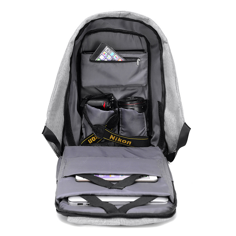 Image 2 - 15 inch Laptop Backpack USB Charging Anti Theft Backpack Men Travel Backpack Waterproof School Bag Male Mochila 2019 Laptop Bags-in Backpacks from Luggage & Bags