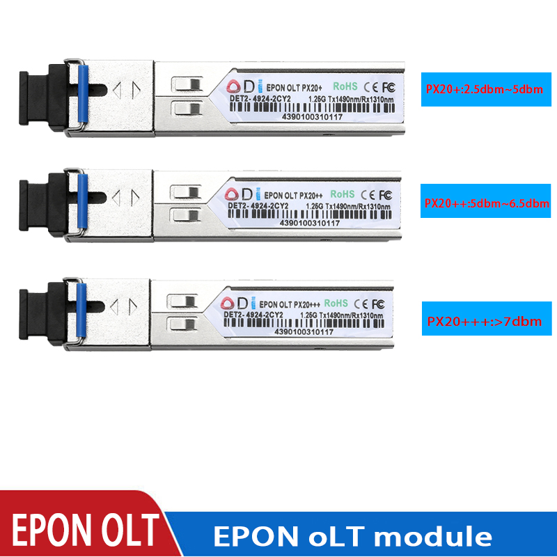 EPON OLT optical transceiver PX20+ PX20++ px20+++ SFPOLT1.25G 1490/1310nm 3-7dBm SC OLT FTTH solutionmodule for