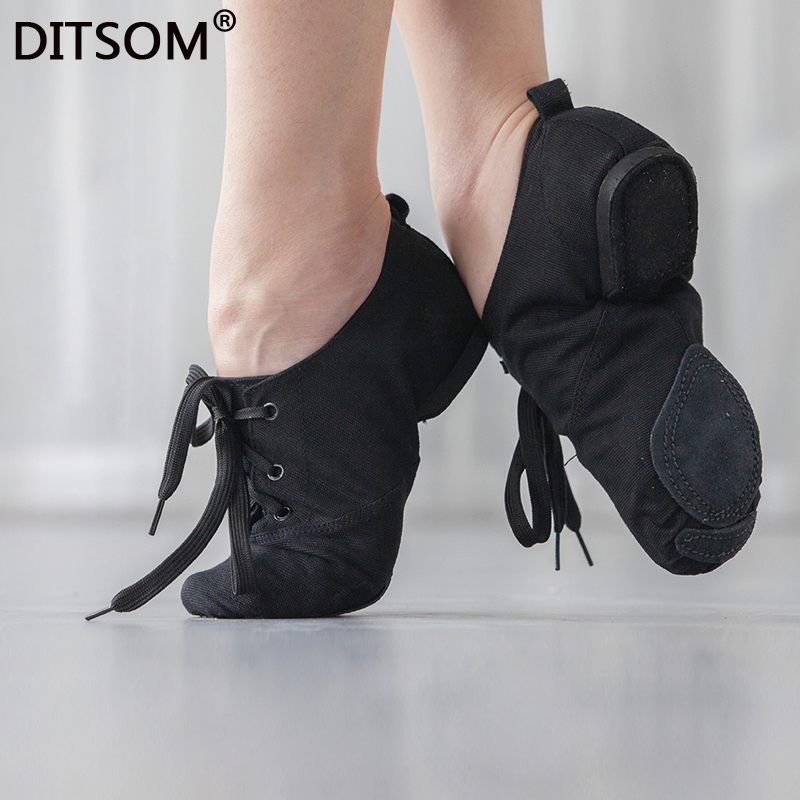 Cloth Women's Ballet Jazz Dance Shoes Lace Up Soft Sport Sneakers Gymnastics Fitness Shoes for Adults Children Size 31 45