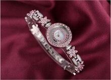 цены New Top Brand Fashion Luxury Crystal RhinestoneLadies Watch Stainless Steel Strap Waterproof Multi-function Quartz Ladies Watch