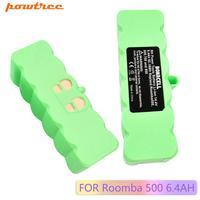 Powtree 6400 mah 14.4 v li-ion bateria para irobot roomba 500 600 700 800 série aspirador de pó irobot roomba 620 650 770 780 800