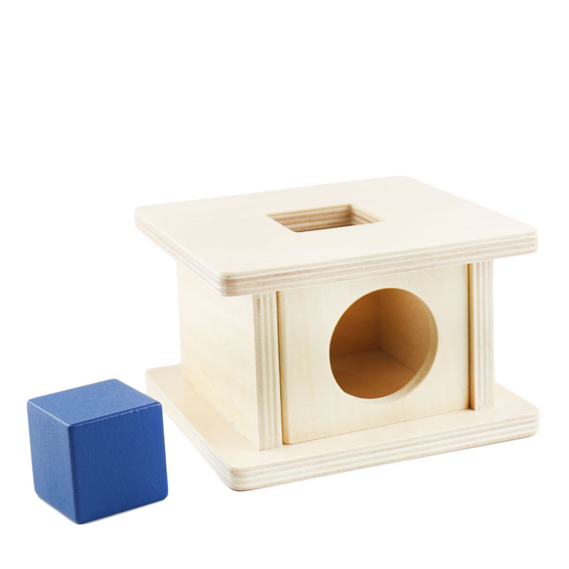 Купить с кэшбэком Infant Toddler Montessori Materials Wooden Ball Coin Box Educational math toys Preschool Training Brinquedos Juguets G1946T