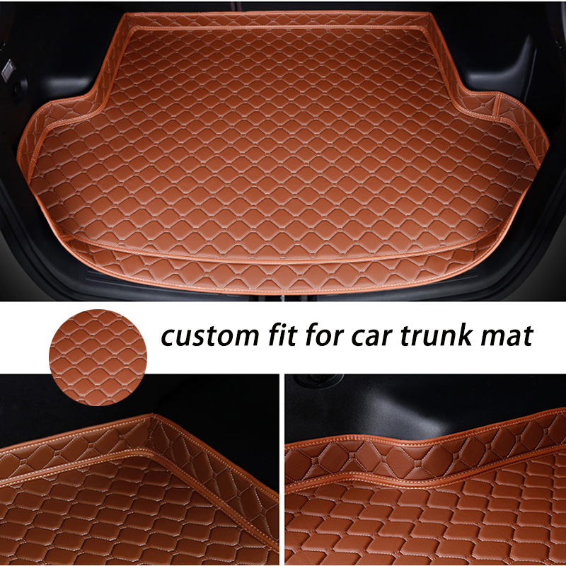 Custom Car Trunk Mat For MITSUBISHI All Modle ASX Eclipse Cross Lancer Evo PajeroPajero Sport Outlander Car Accessories Styling