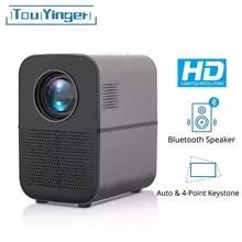 TouYinger T7 T7K T7W HD LED 홈프로젝터 블루투스, 1280x720 지원 시네마 용 풀 HD 비디오 USB 비머, 4000 루멘 안드로이드 옵션