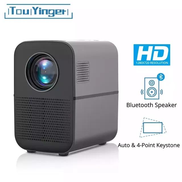 TouYinger T7 T7K T7W HD LED الرئيسية العارض بلوتوث ، 1280x720 دعم كامل HD فيديو USB متعاطي المخدرات للسينما ، 4000 لومينز أندرويد اختياري