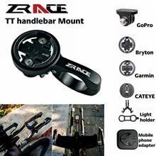 ZRACE TT Handlebar คอมพิวเตอร์ Mount สีดำ,OUT FRONT Mount สำหรับ iGPSPORT Garmin Bryton GoPro CATEYE กล้อง