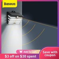 Baseus-luz Solar LED para exteriores, lámpara de pared con Sensor de movimiento, alimentada por energía Solar, para césped y paisaje de jardín