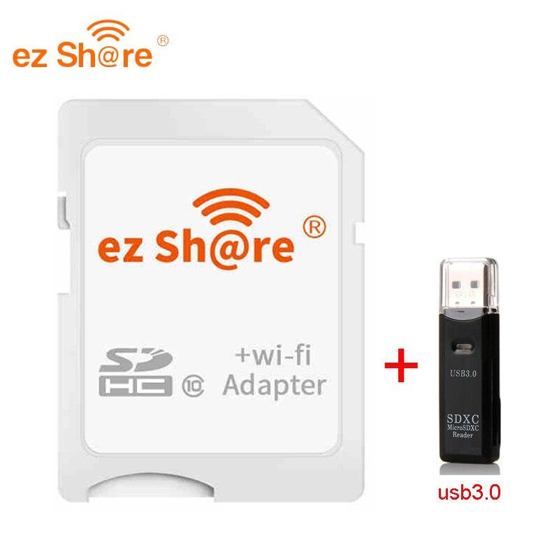 2018 oferta especial venda direta ez share wifi adaptador de wifi cartão sd e leitor de cartão pode usar 8g 16g 32g sem cartão micro sd