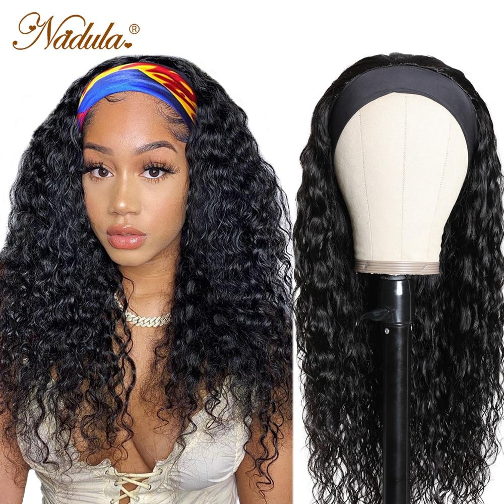 """Nadula  Headband Wig 14""""-26"""" Water Wave Hair Scarf Wig No GLUE Water Wave Headband Wig  for Women Easy Wear 1"""
