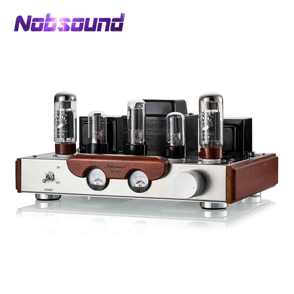 2020 Terbaru Nobsound EL34 Katup Tabung Amplifier Stereo Hi-Fi Satu Berakhir Kelas Power Amp High-End Brushed panel Logam Amp