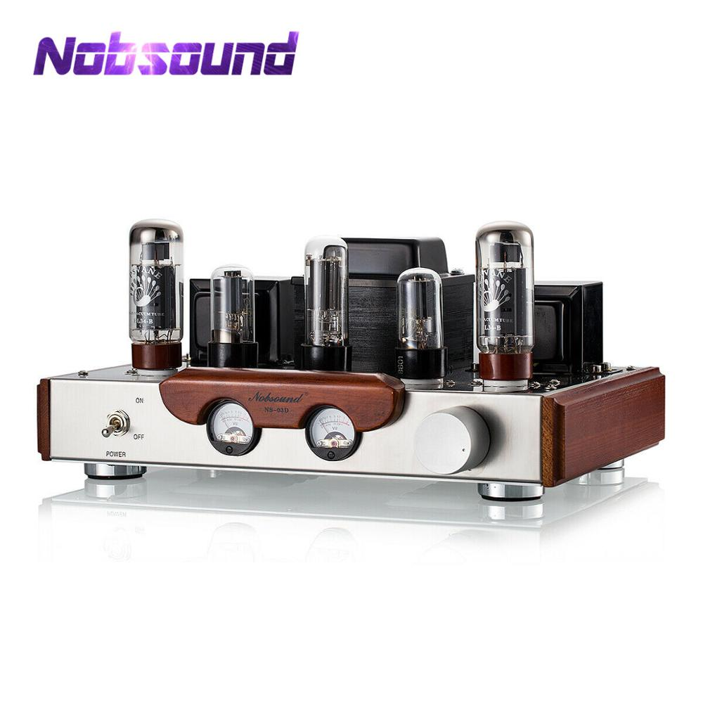 2020 Latest Nobsound EL34 Valve Tube Amplifier Stereo Hi-Fi Single-ended Class A Power Amp High-end Brushed Metal Panel Amp