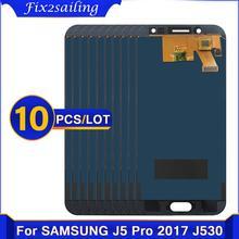 10 sztuk dla Samsung Galaxy J5 2017 J530 J5 Pro SM-J530F J530M wyświetlacz LCD ekran dotykowy Digitizer zgromadzenie dla J5 J530 ekran LCD tanie tanio fix2sailing Pojemnościowy ekran 1920x1080 3 For Samsung Galaxy J5 2017 J530 SM-J530F J530M LCD i ekran dotykowy Digitizer