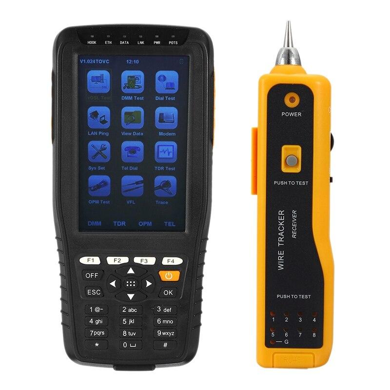 New Tm-600 Vdsl Vdsl2 Tester Adsl Wan & Lan Tester Xdsl Line Test Equipment With All Functions(Opm+Vfl+Tone Tracker+Tdr) Eu Plug