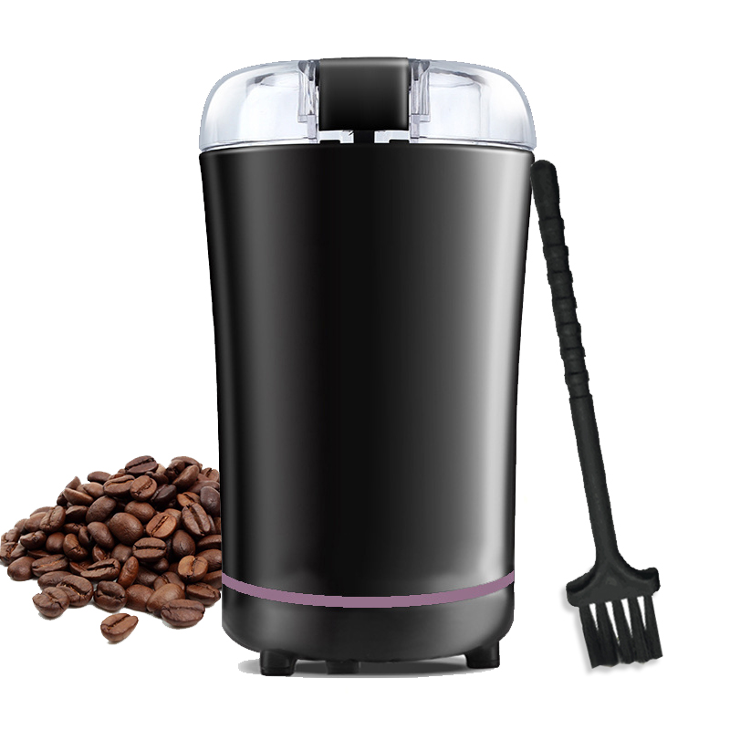 220V Mini Electric Coffee Grinder Maker Stainless Steel Mill Herbs Nuts Kitchen Salt Pepper Powerful Coffee Bean Grinder Machine